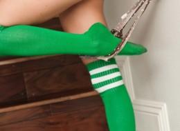 Zielone podkolanówki (3)