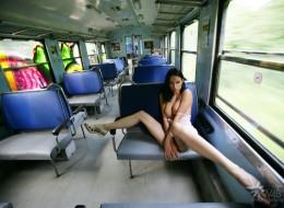 Amatorka w pociągu (4)