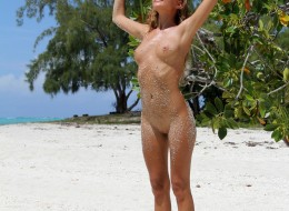 Sunia naga na plaży (1)