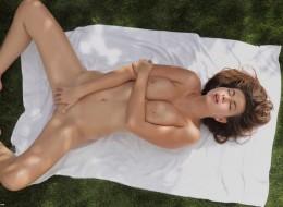 Dymanie nastolatki na ręczniku (11)