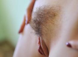 Amatorka nie goli szparki (1)