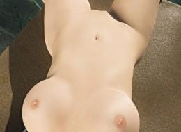 Seksownie rozłożyła się na basenie (2)